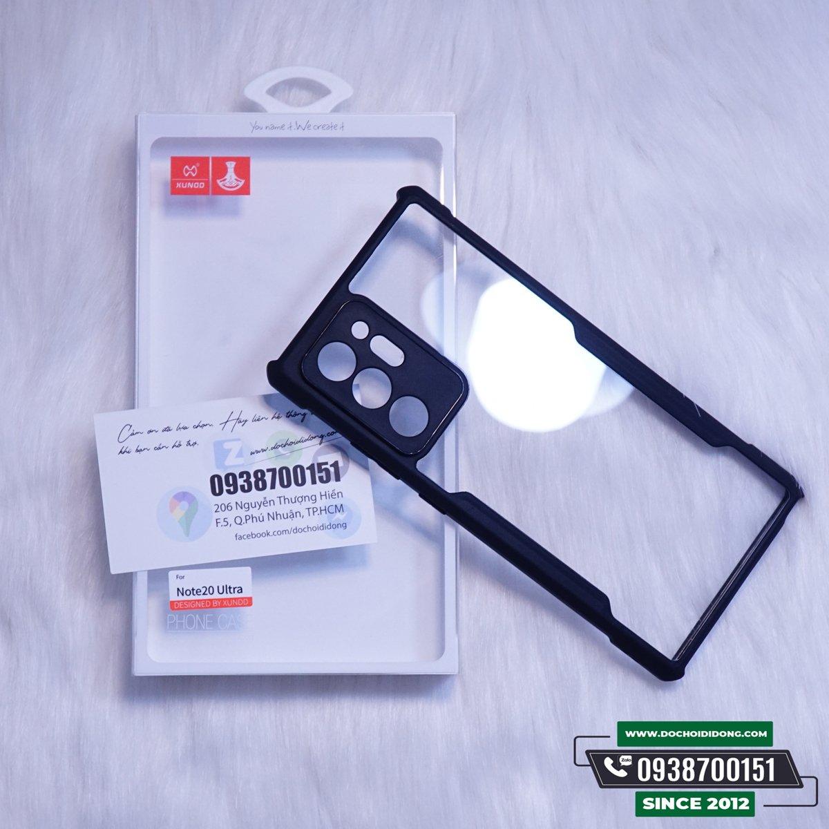 [ Tặng kèm PPF chống trầy lưng ốp] Ốp Lưng Chống Sốc Xundd Beatle Series Cho Samsung Note 20 Ultra