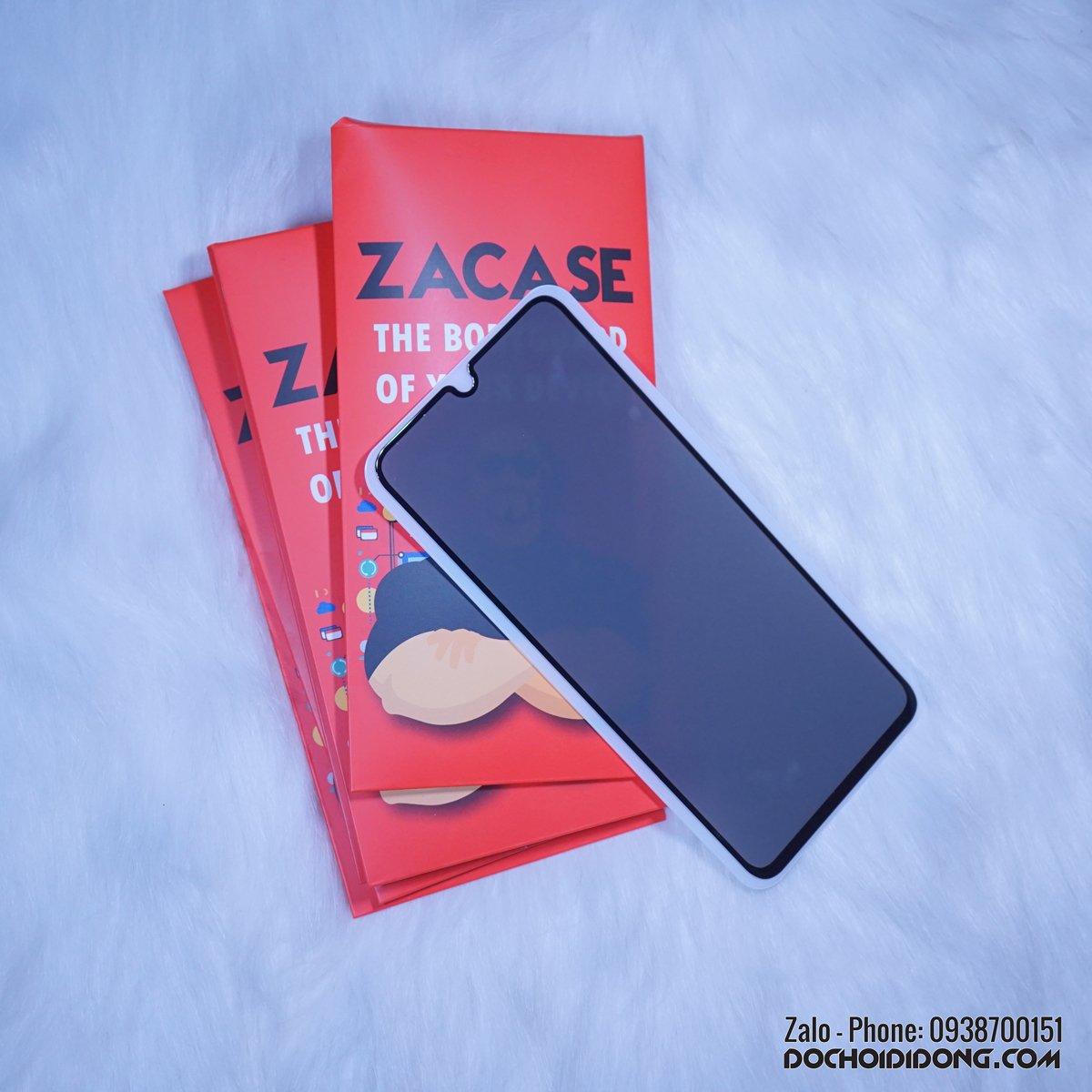 Miếng dán cường lực chống nhìn trộm Samsung A70 Zacase full màn hình