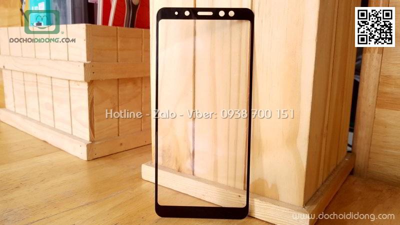 Miếng dán cường lực full màn hình Samsung A8 Plus 2018 Zacase keo viền