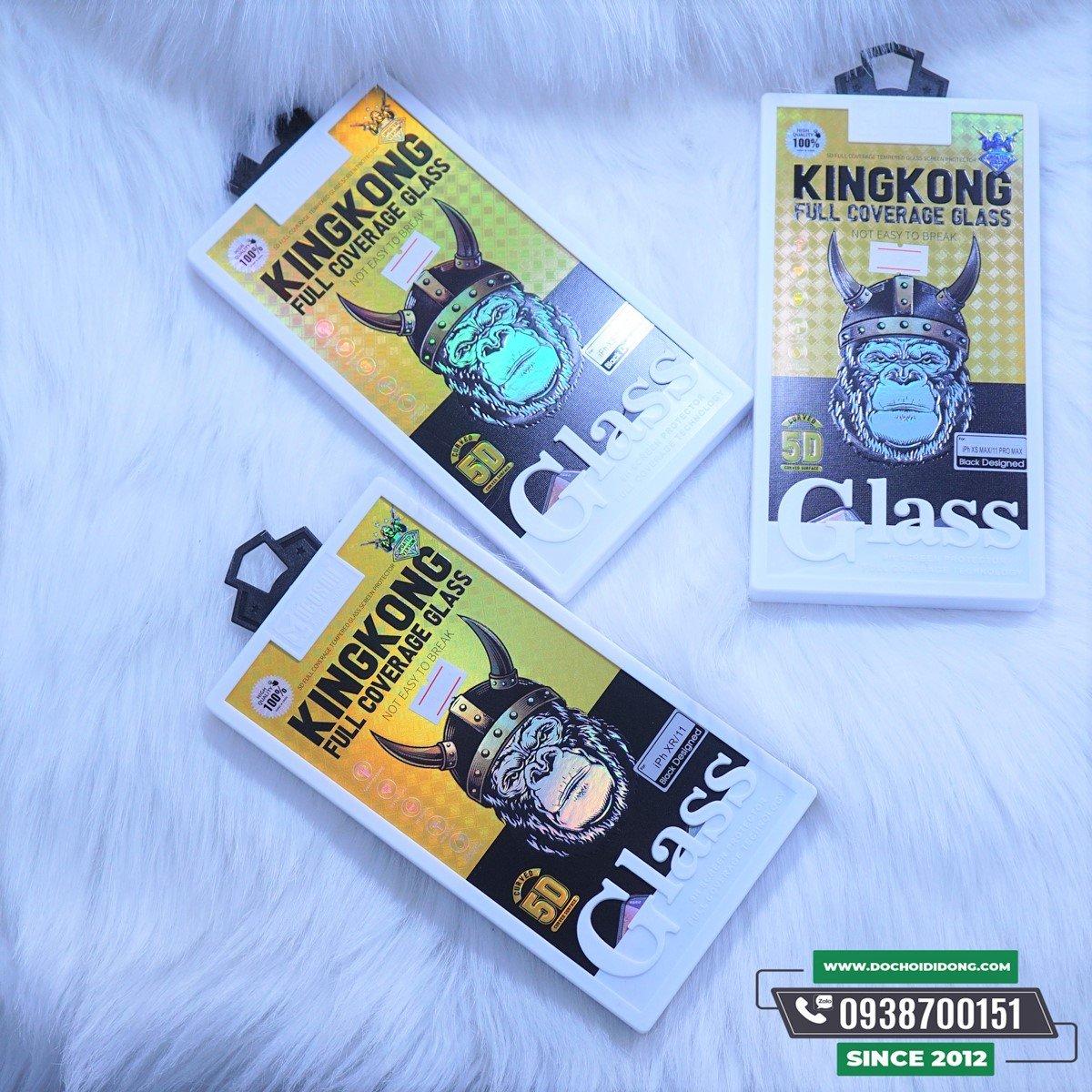 Dán Cường Lực Mocoson KingKong Full Coverage Cho Iphone XR X XS 11 Pro Max Các Đời
