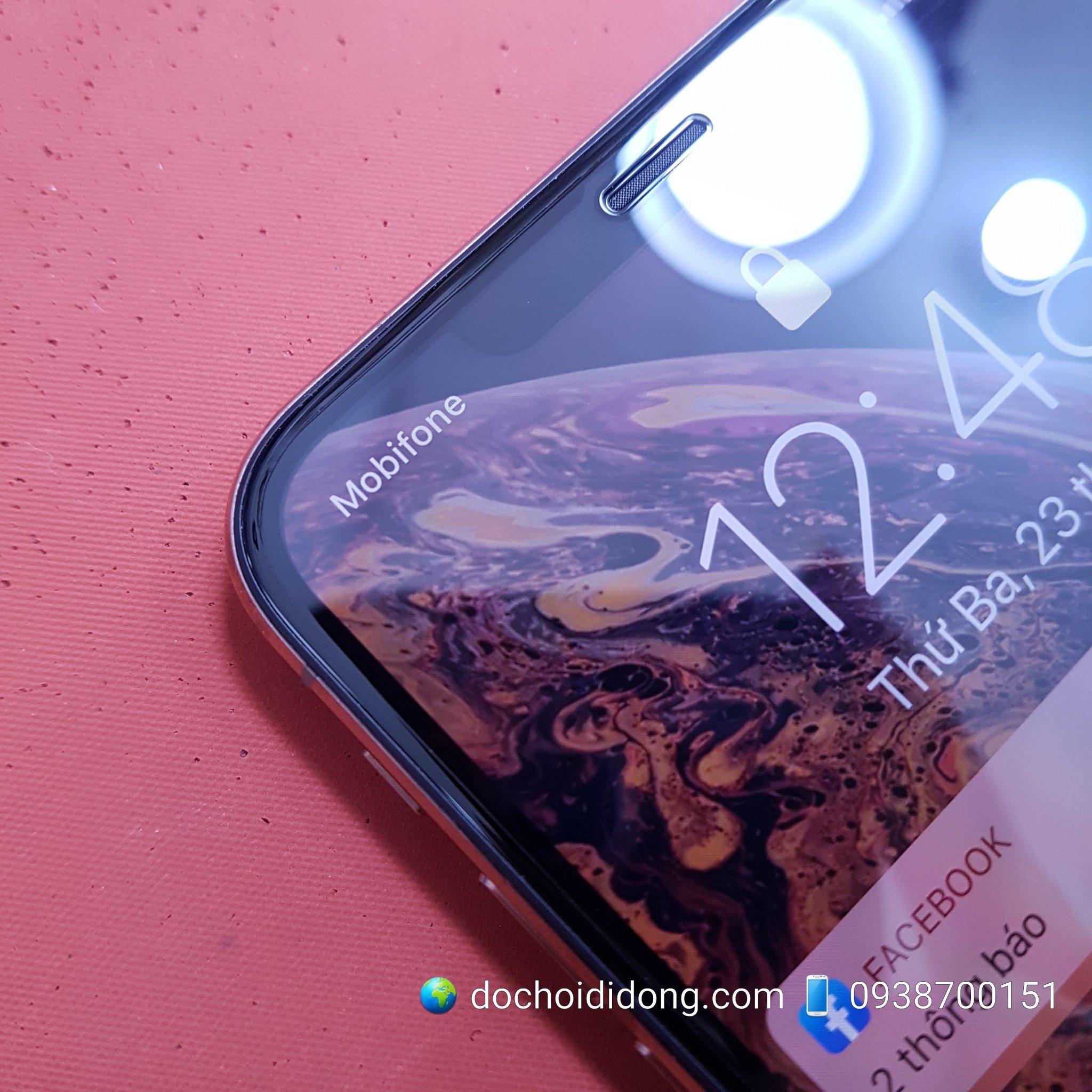 Dán cường lực iPhone XS Max Mipow King Bull HD dùng cho ốp chống sốc