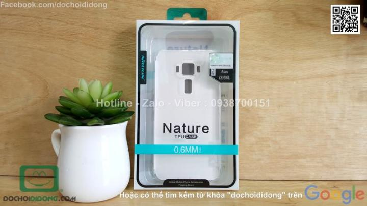 Ốp lưng Asus Zenfone 3 5.2 Inch ZE520KL Nillkin dẻo trong siêu mỏng