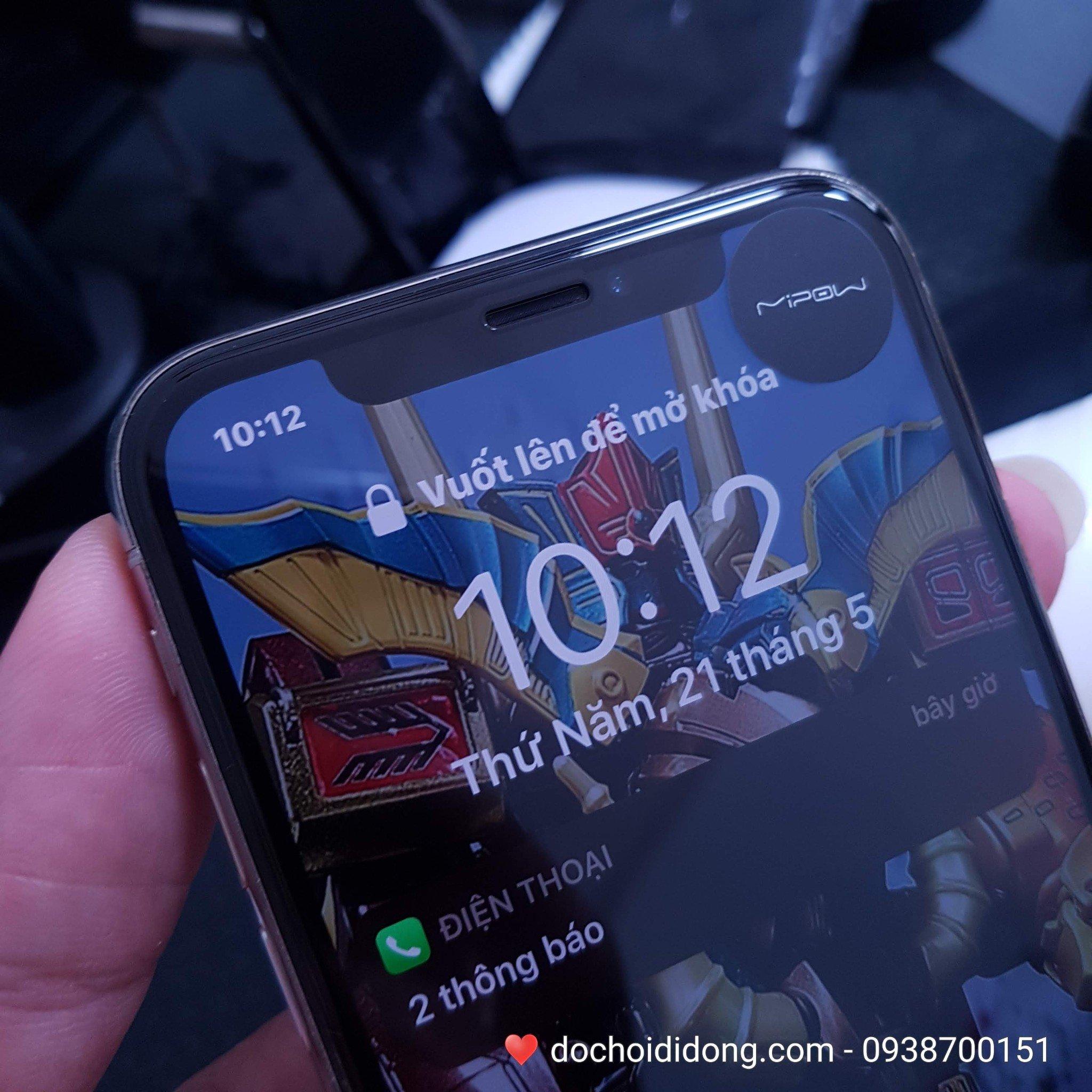 Miếng dán cường lực iPhone 11 Pro Mipow King Bull 3D full màn hình