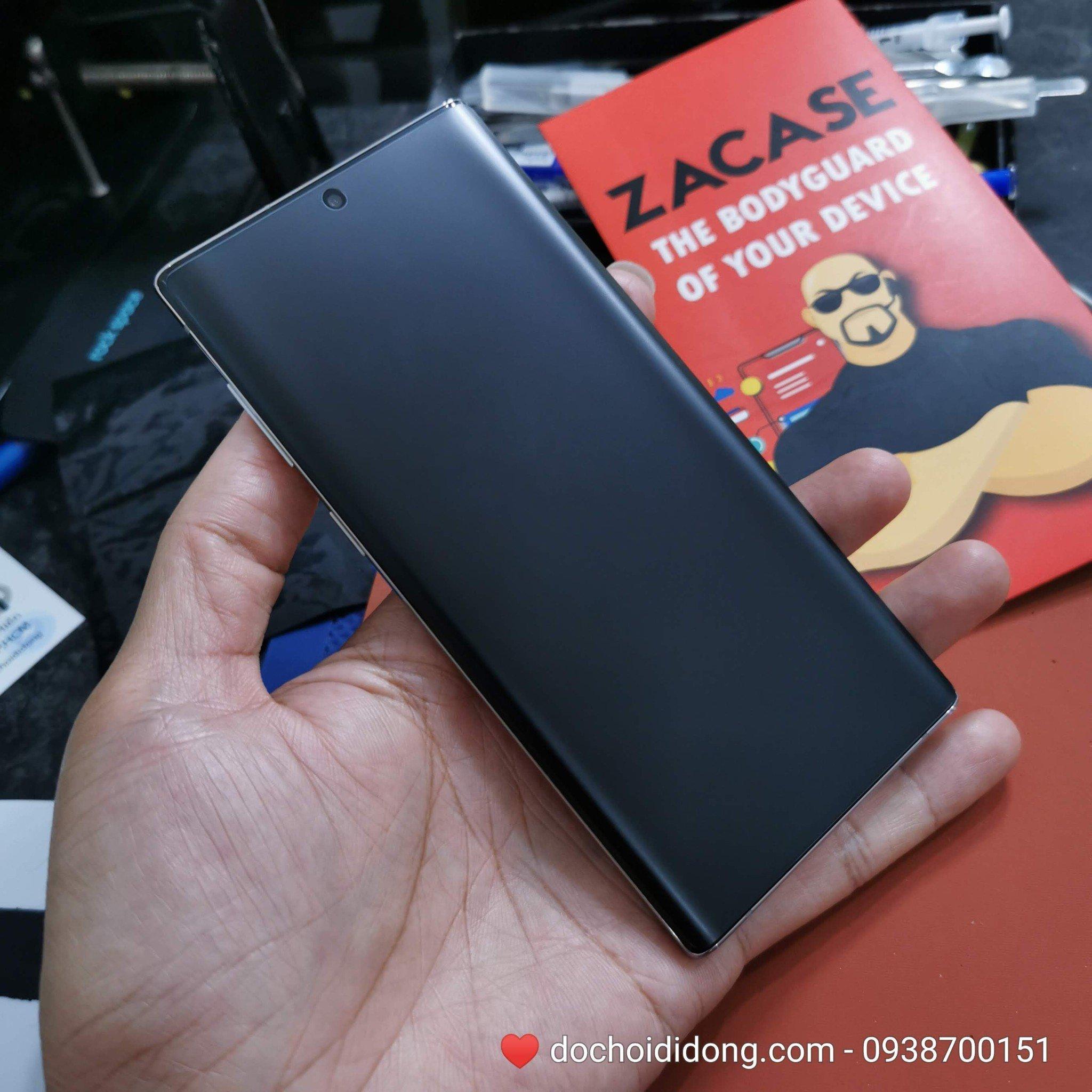 Miếng dán cường lực nhám Samsung Note 10/ Note 10 PLusUV Zacase chống vân tay