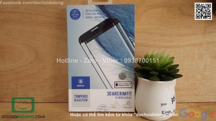 Miếng dán cường lực Samsung Galaxy Note 7 Baseus full màn hình