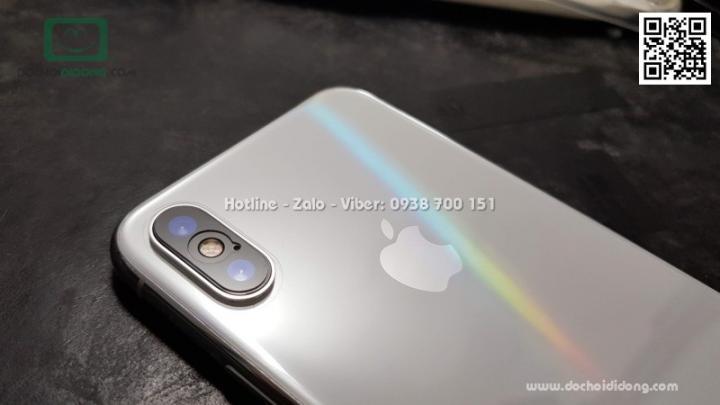 Miếng dán full lưng iPhone XS Max Aurora đổi màu