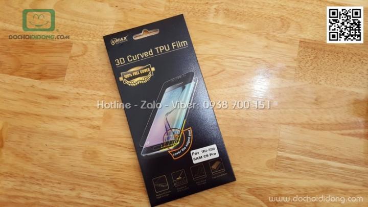 Miếng dán màn hình Samsung Galaxy C9 Pro Vmax full màn hình