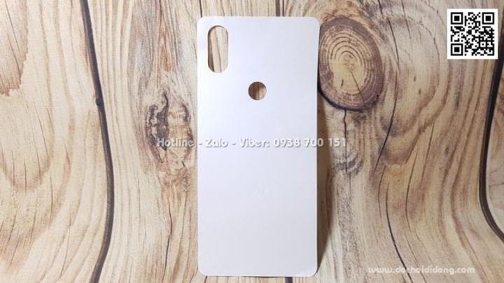 Miếng dán mặt lưng Xiaomi Mi Mix 3 vân carbon