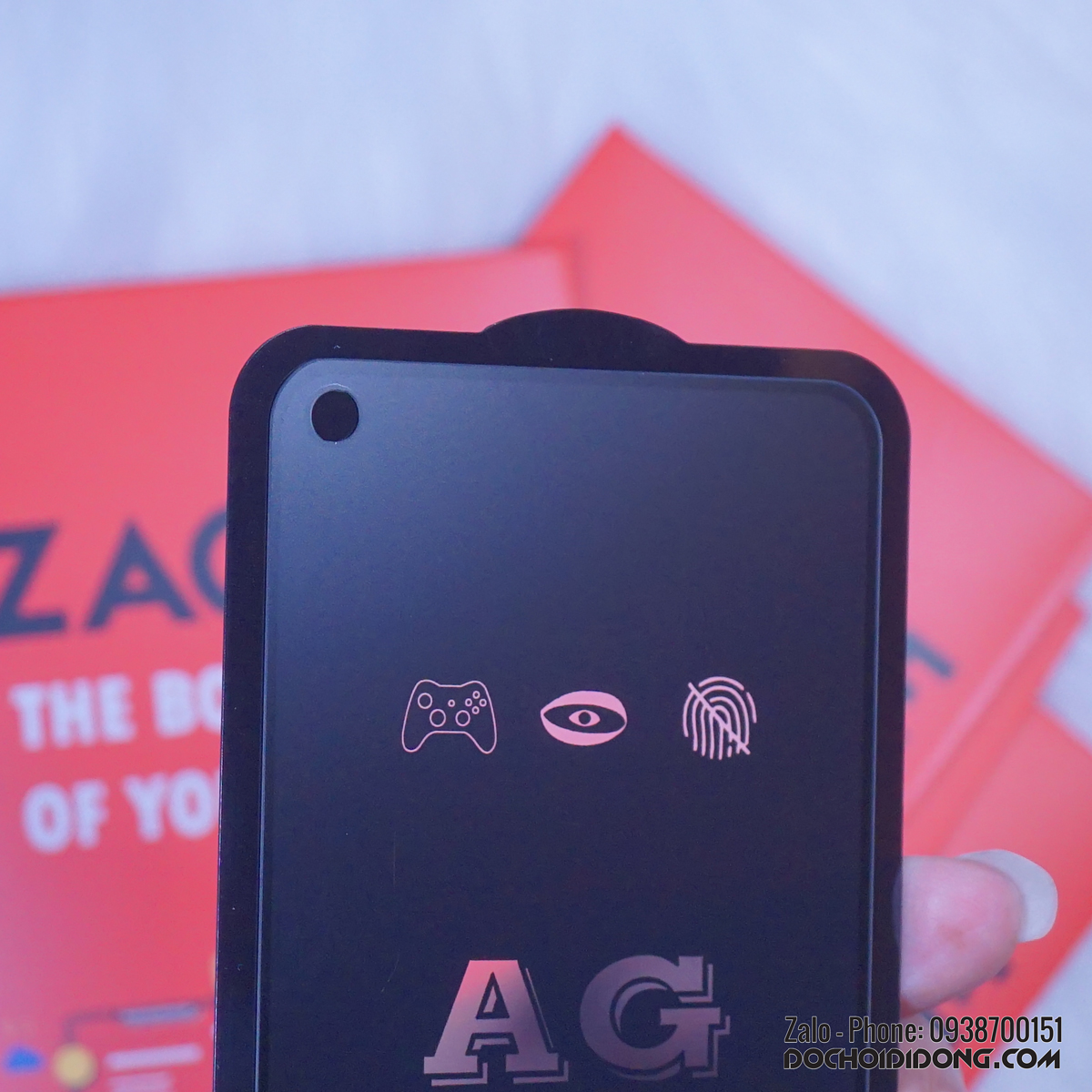 Miếng dán cường lực nhám Samsung A60 Zacase full màn hình chống vân tay