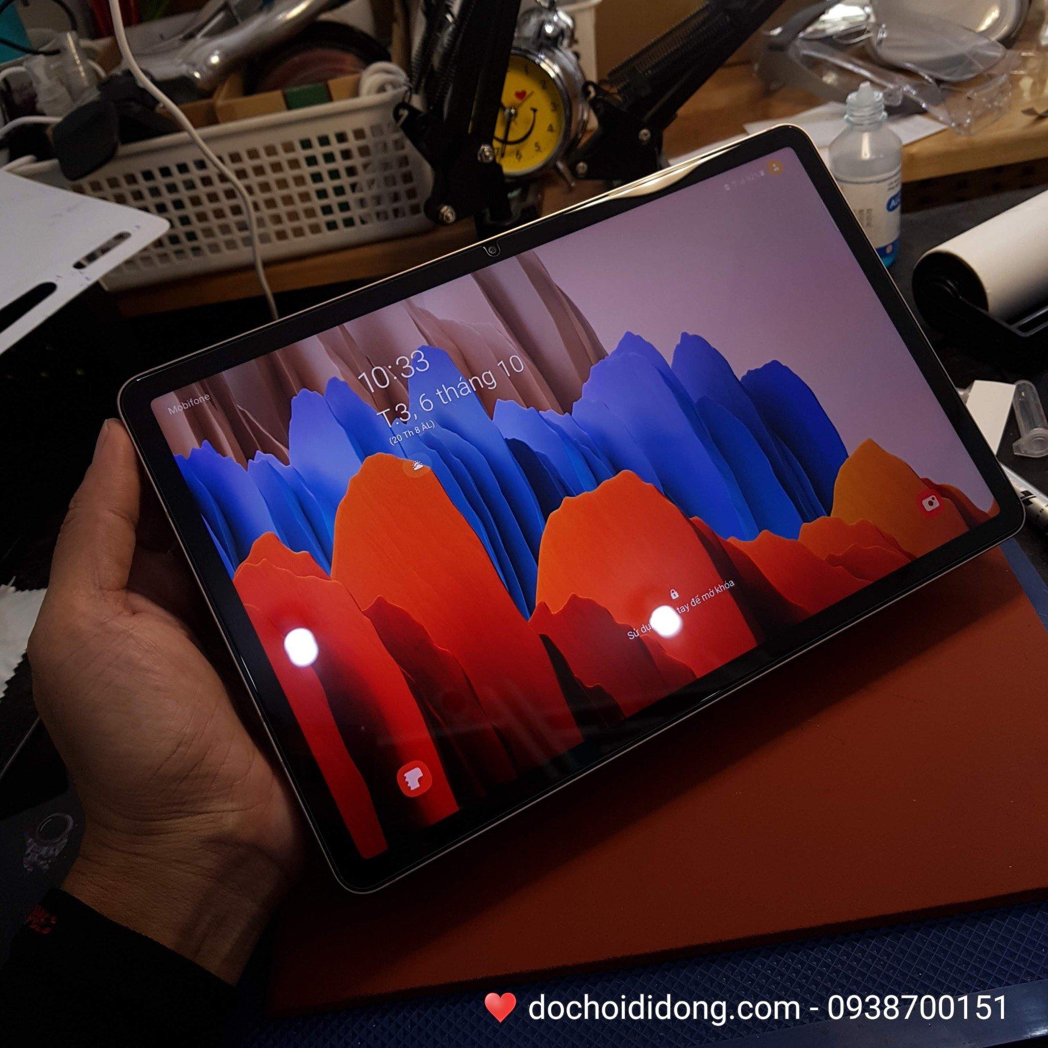 Miếng dán cường lực Samsung Tab S7 và Samsung Tab S7+ Plus Zacase Tablet Premium