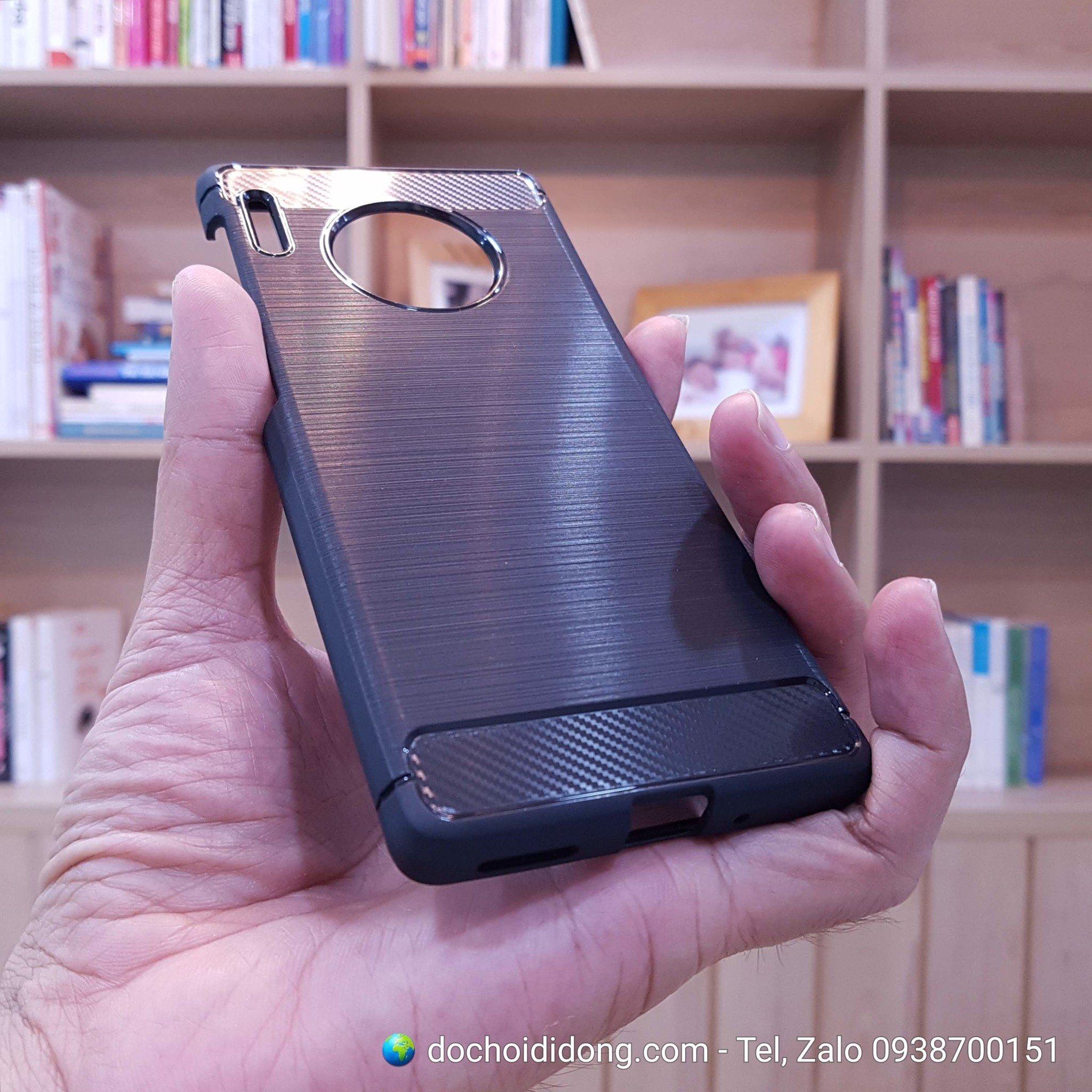 Ốp lưng Huawei Mate 30 Pro Likgus dẻo sọc kim loại chống sốc