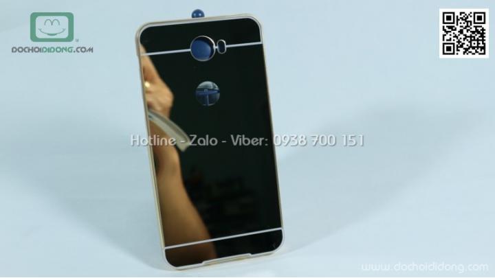 Ốp lưng Huawei Y5II viền nhôm lưng tráng gương