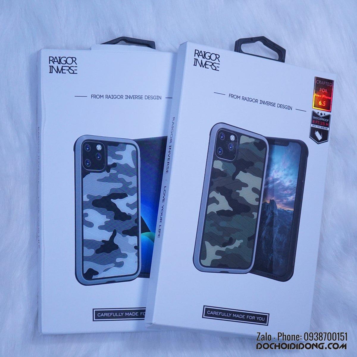 Ốp lưng iphone 11 Pro Max Raigor Inverse chống sốc quân đội