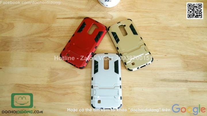 Ốp lưng LG K10 Iron Man chống sốc có chống lưng
