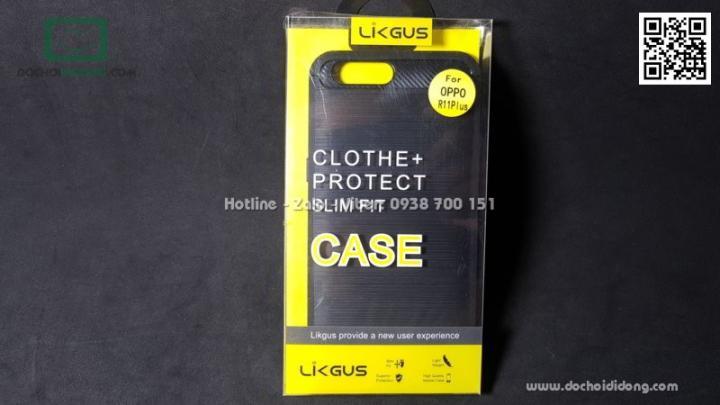 Ốp lưng Oppo R11 Plus Likgus chống sốc vân kim loại