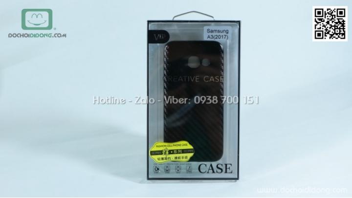 Ốp lưng Samsung A3 2017 iCan carbon siêu mỏng