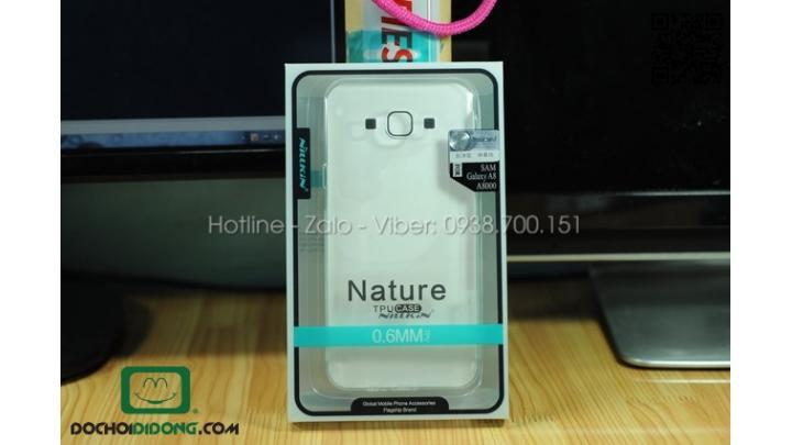 Ốp lưng Samsung Galaxy A8 Nillkin dẻo trong siêu mỏng