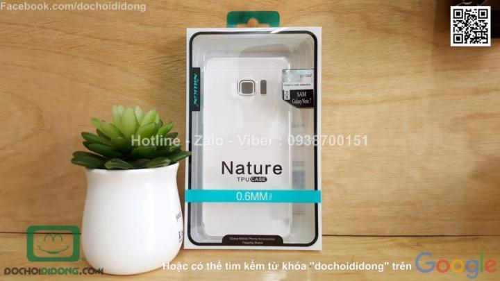 Ốp lưng Samsung Galaxy Note 7 Nillkin dẻo trong siêu mỏng