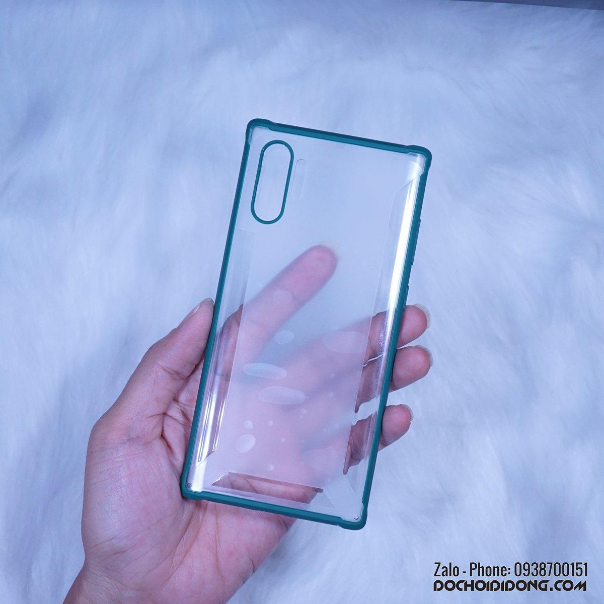 Ốp lưng Samsung Note 10 - Note 10 Plus Likgus Mola lưng nhám trong viền dẻo