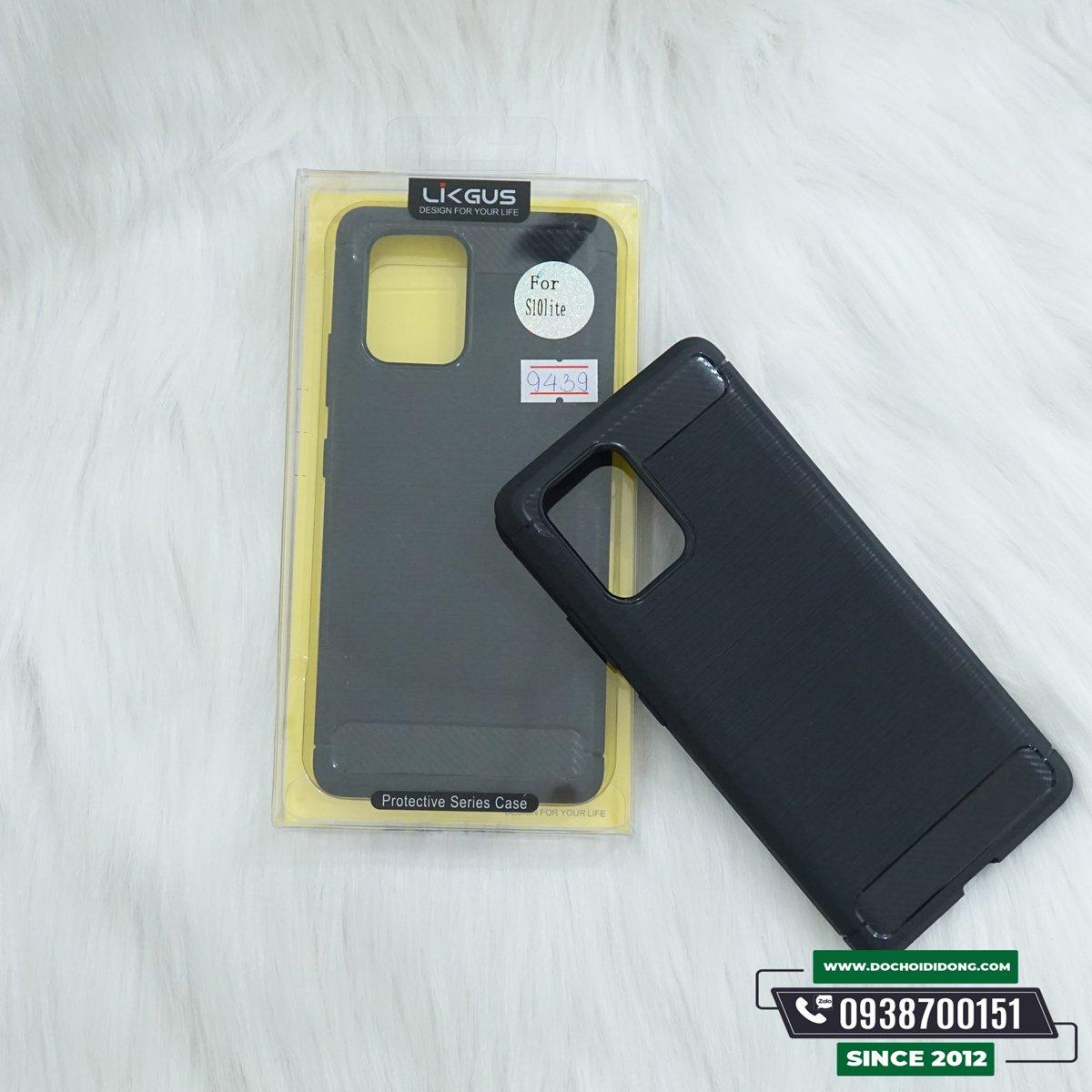 Ốp Lưng Samsung S10 Lite Likgus Dẻo Sọc Kim Loại Chống Sốc