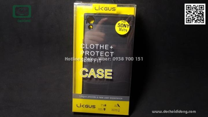 Ốp lưng Sony XA1 Ultra Likgus chống sốc vân kim loại