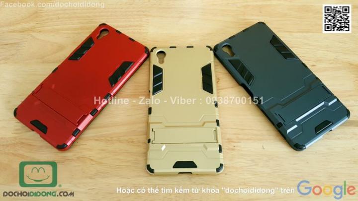 Ốp lưng Sony Xperia X Iron Man chống sốc có chống lưng