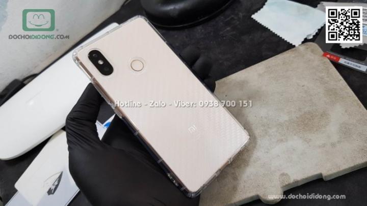 Ốp lưng Xiaomi Mi 8 SE dẻo trong viền gân chống sốc