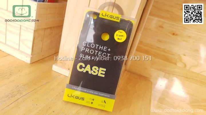 Ốp lưng Xiaomi Mi Max 2 Likgus chống sốc vân kim loại