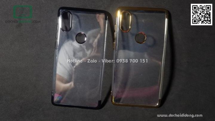 Ốp lưng Xiaomi Mi Mix 2S Zacase dẻo trong viền màu chống sốc