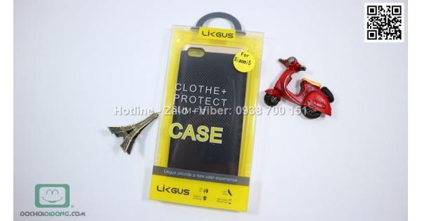 Ốp lưng Xiaomi Mi5 Likgus chống sốc vân carbon