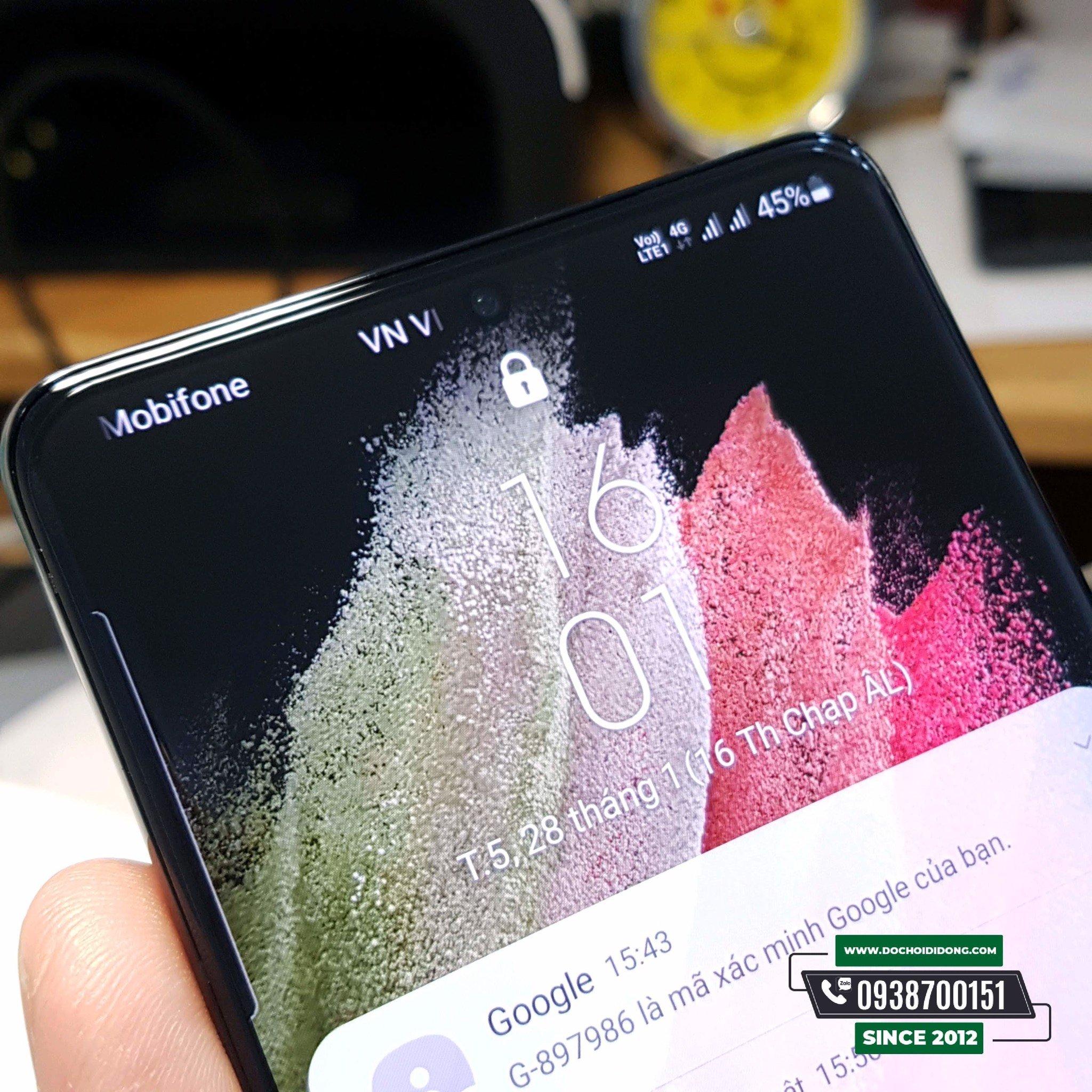 Miếng dán cường lực Samsung S21 Plus + Ultra 5G Zacase keo UV cao cấp