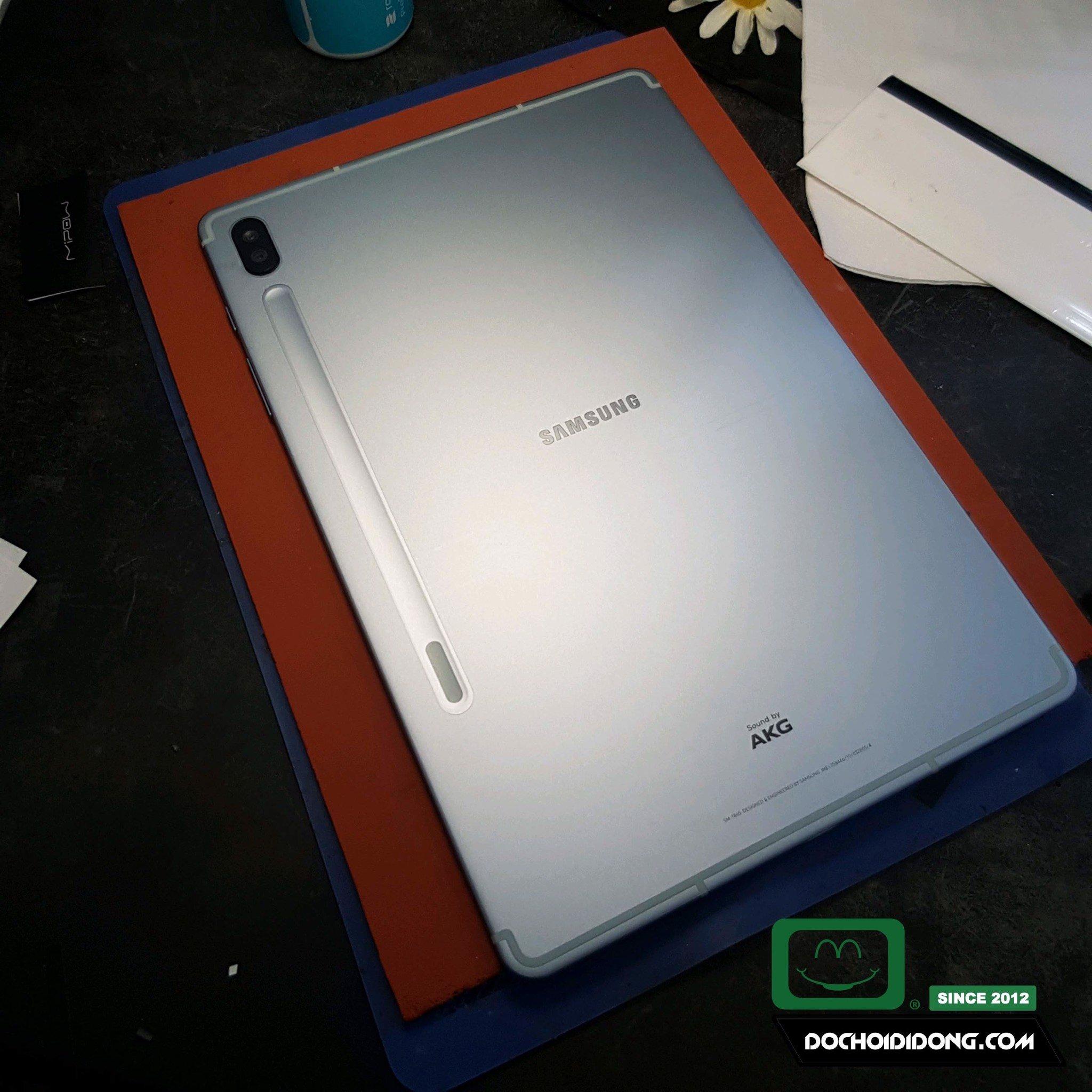 Miếng dán PPF Lưng Samsung Tab S6 T865 trong, nhám cao cấp