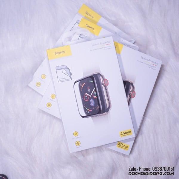 Miếng dán cường lực dẻo Polyme dành cho đồng hồ Apple Watch 38 40 42 44mm hiệu Baseus