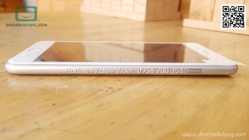 Miếng dán cường lực full màn hình iPhone 7 8 Plus Mercury viền mềm 9H