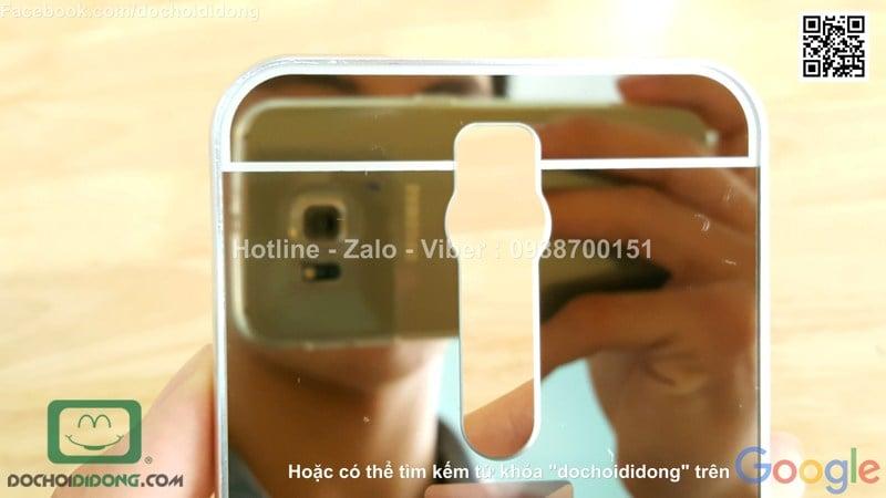 Ốp lưng Asus Zenfone 2 ZE551ML viền nhôm lưng tráng gương