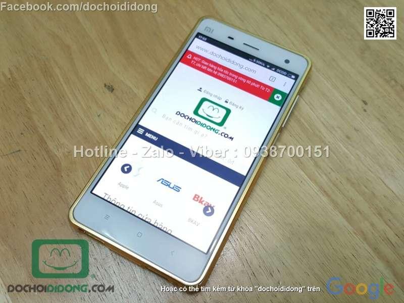 Ốp lưng Samsung Galaxy Xiaomi Mi4 viền nhôm lưng tráng gương