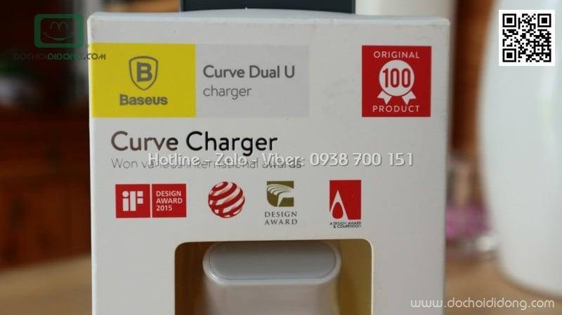 Dock sạc Baseus Curver Dual U 2 cổng 2.4A kiêm giá đỡ điện thoại