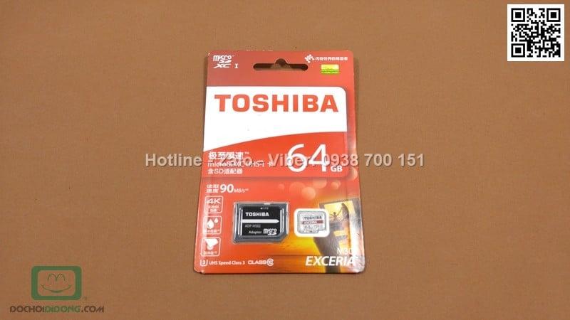 Thẻ nhớ MicroSD Toshiba 64GB Class 10 90MBs