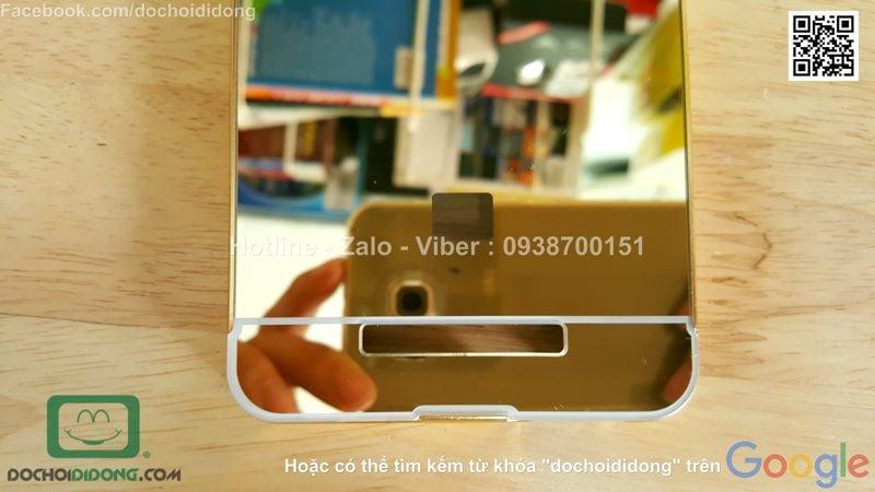 Ốp lưng Xiaomi Redmi Note 2 viền nhôm lưng tráng gương