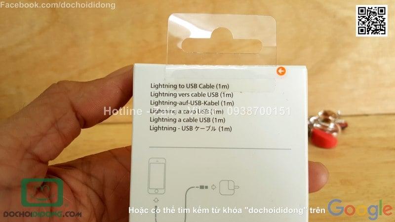 Cáp sạc Apple iPhone 8 Lightning chính hãng