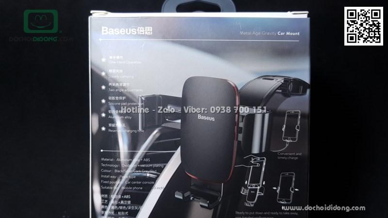 Giá đỡ điện thoại Baseus Metal Age Gravity chân dán dành cho xe hơi