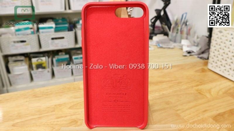 Ốp lưng iPhone 7 Plus Nuoku bọc da