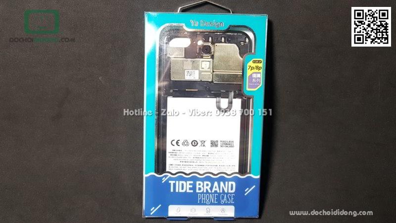 Ốp lưng iPhone 7 8 Plus Ya Design lưng kính in hình bo mạch