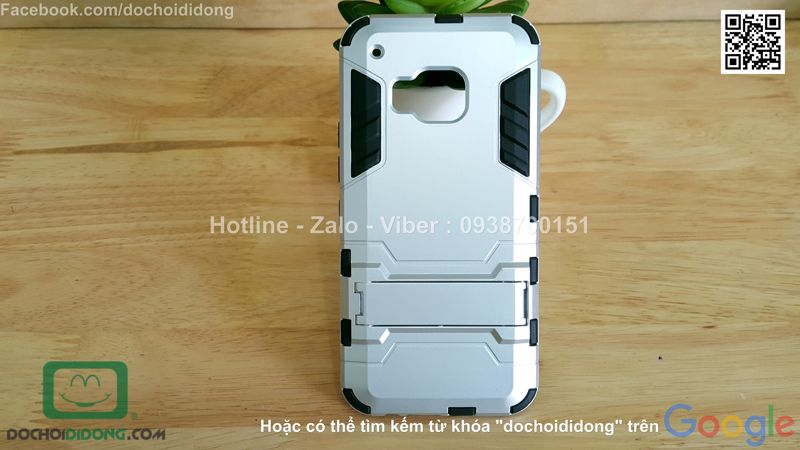 Ốp lưng HTC One M9 Iron Man chống sốc có chống lưng