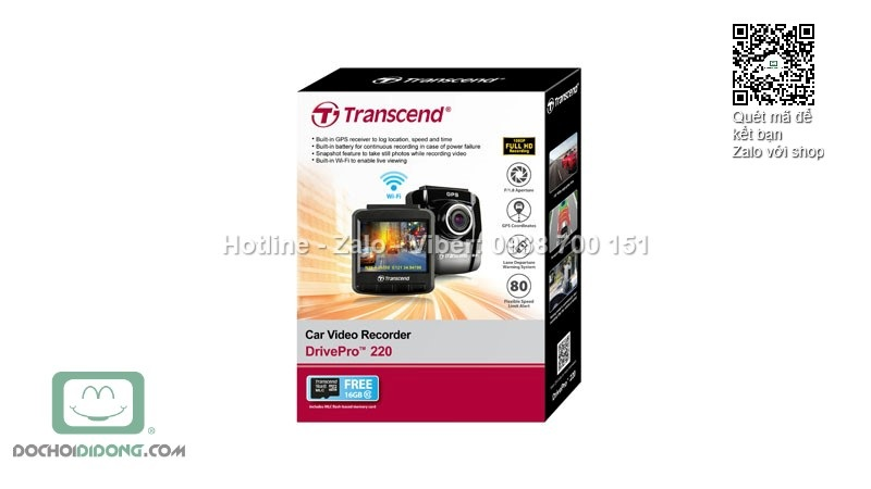 CAMERA HÀNH TRÌNH TRANSCEND Drive Pro 220