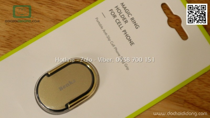 Chân chống đa năng dạng nhẫn dán lưng điện thoại Benks Magic Ring xoay 360 độ