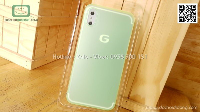Ốp lưng iPhone X G-Case Couleur Series dẻo siêu mỏng