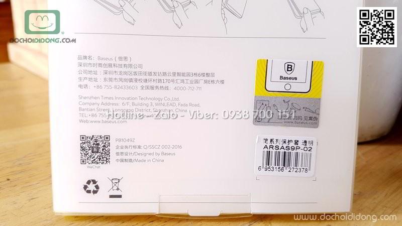 Ốp lưng Samsung S9 Plus Baseus dẻo trong chống sốc