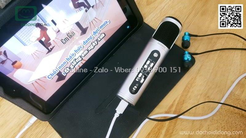 Micro karaoke Remax K02 cho điện thoại máy tính bảng và PC