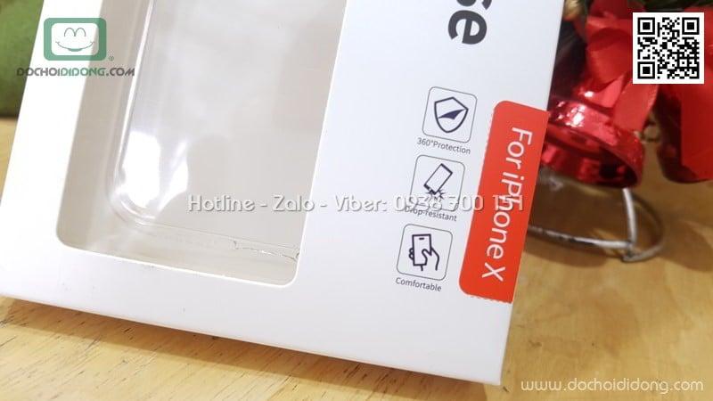 Ốp lưng iPhone X Rock Classy bảo vệ camera